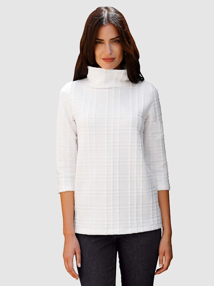 Paola Sweat-shirt en matière structurée, Blanc