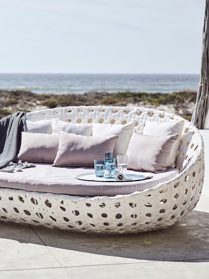 Outdoor-Loungesofa, Weiß