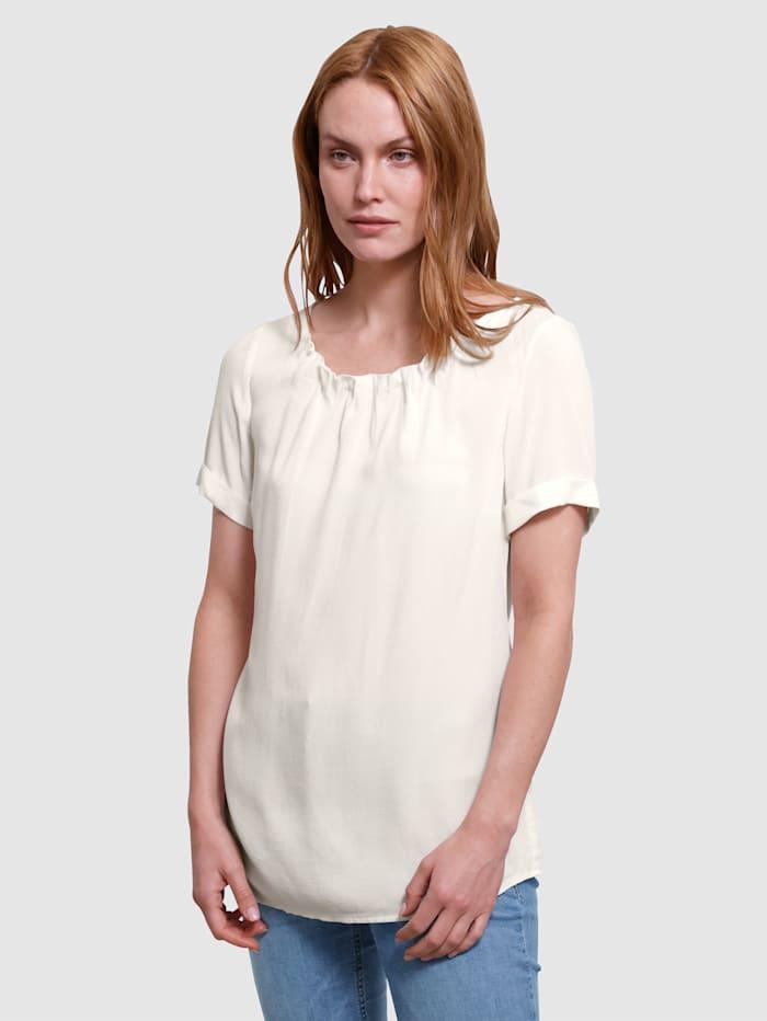 Laura Kent Bluse mit schöner Struktur, Off-white