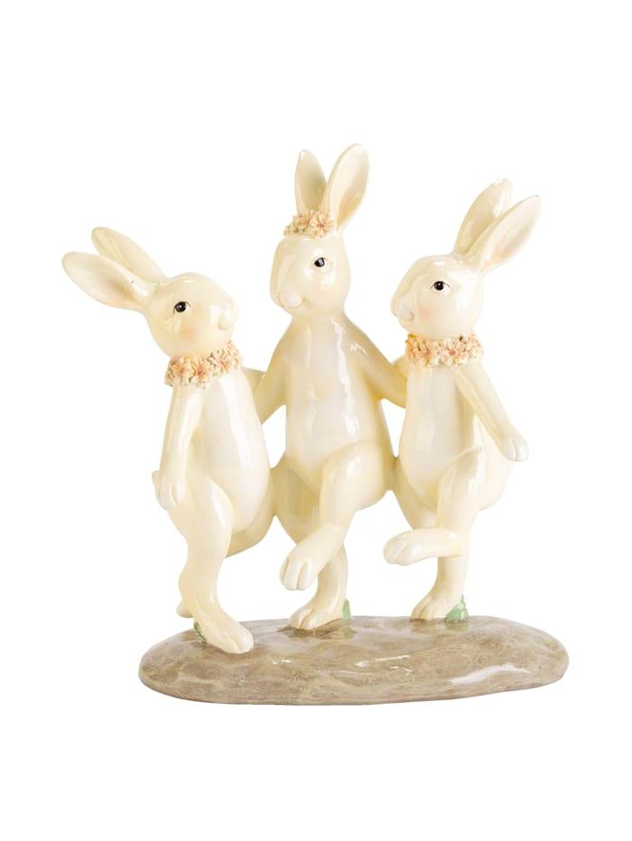 IMPRESSIONEN living Décoration lapins, Blanc
