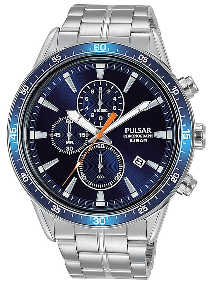 Pulsar Sport Herrenuhr Chronograph Blau, Blau