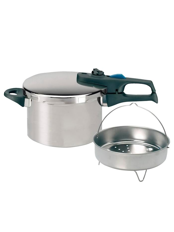 ELO Snelkookpan 6 liter, Zilver