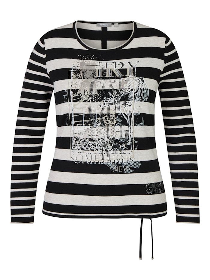Rabe Pullover mit geringeltem Allover-Muster und Glitzerdetails, PERLE