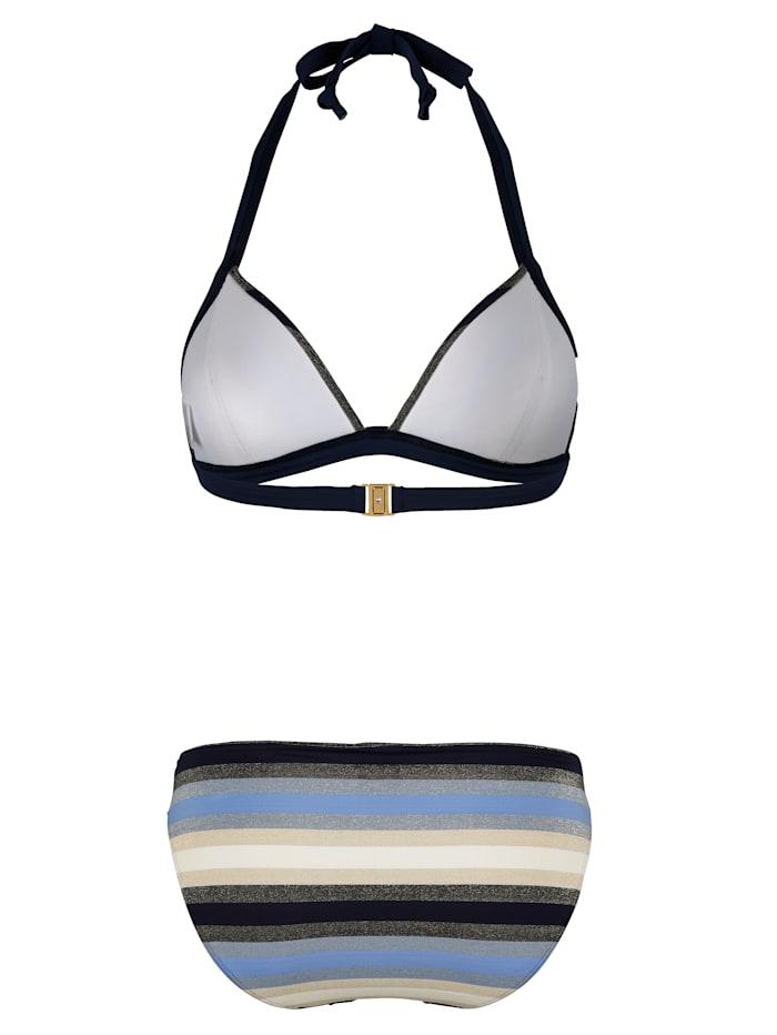 Bikini dos-nu à effets brillants