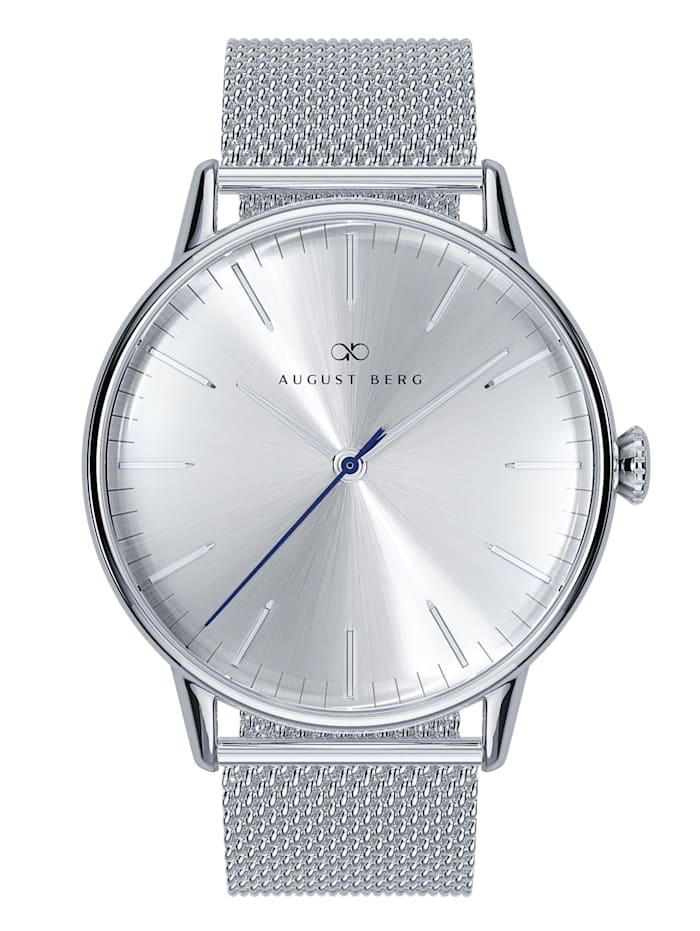 August Berg Uhr Serenity Simply Silver Silver Mesh 40mm, sunray silver
