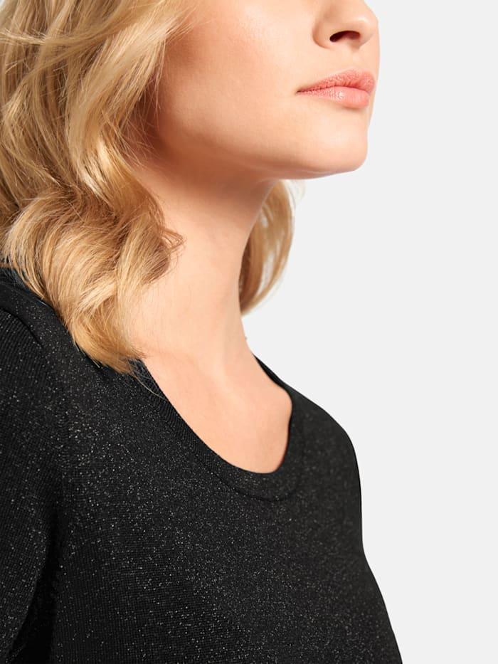 Pullover in meliertem Design mit halblangen Ärmeln