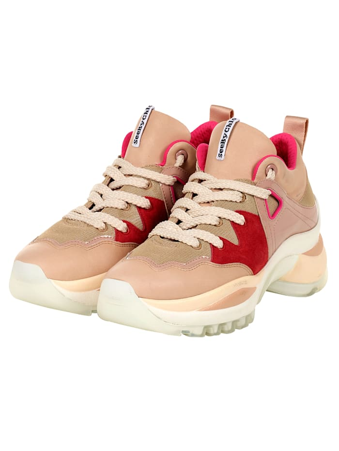 SEE BY CHLOÉ Plateausneaker, Beige