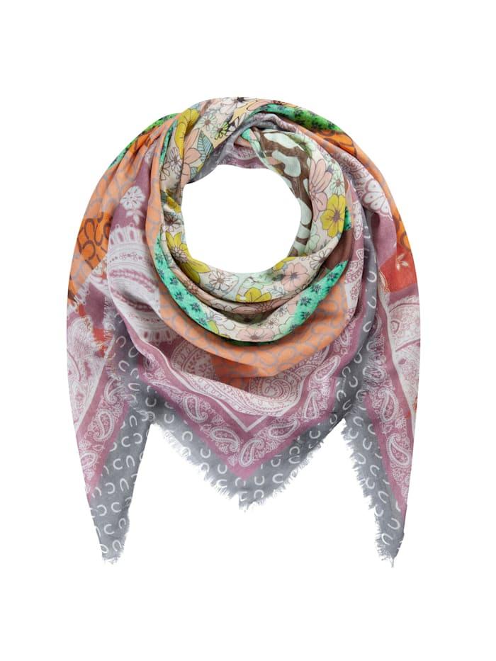 Codello Softes Schmetterlings-Tuch aus Baumwolle und Modal, salmon