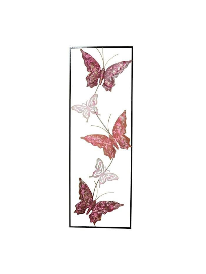 NTK-Collection Wanddeko Silhouette Schmetterling, Schwarz, Pink, Rosa