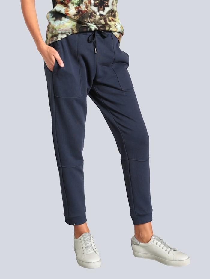 MARGITTES Hose aus weicher Sweatware, Marineblau