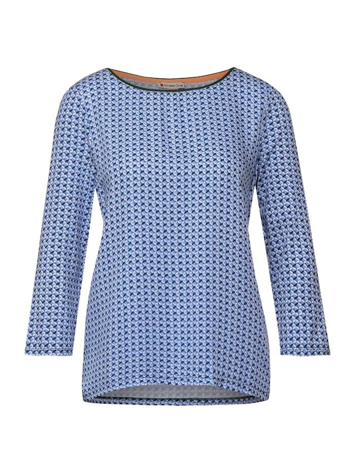 Street One Shirt mit Ikat Print, warm blue