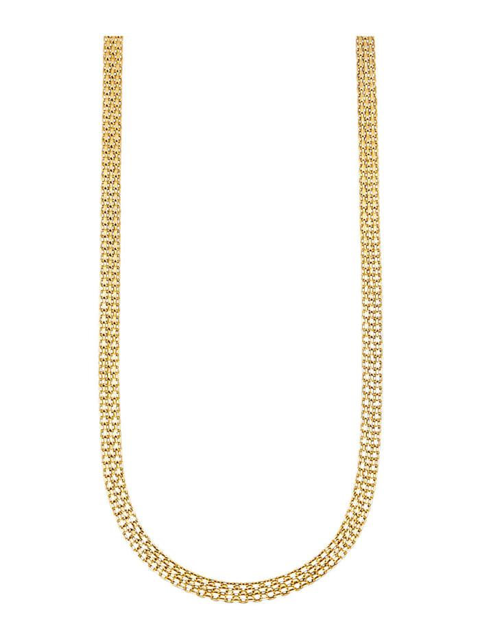 Diemer Gold Bismarckkette in Gelbgold 585, Gelbgoldfarben