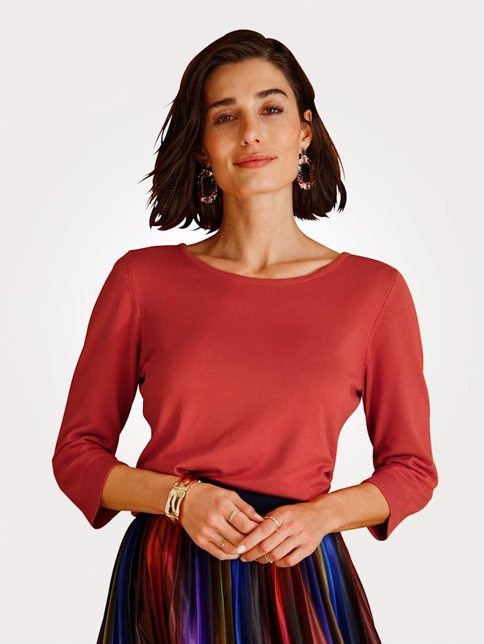 MONA Pullover in Feinstrick, Terracotta