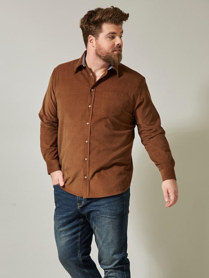 Men Plus Overhemd, Cognac