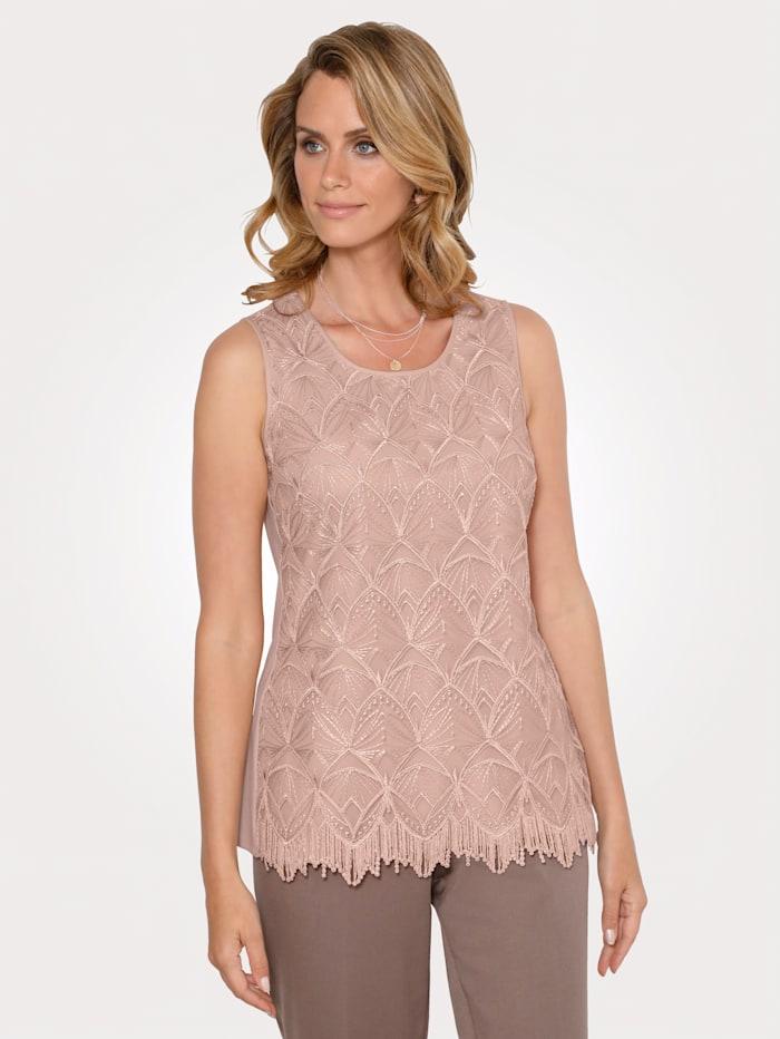 MONA Set bestaande uit een blouse en topje, Rozenhout