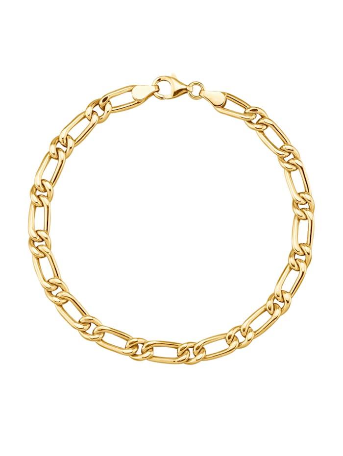 Diemer Gold Armband i figarolänk, Guldfärgad