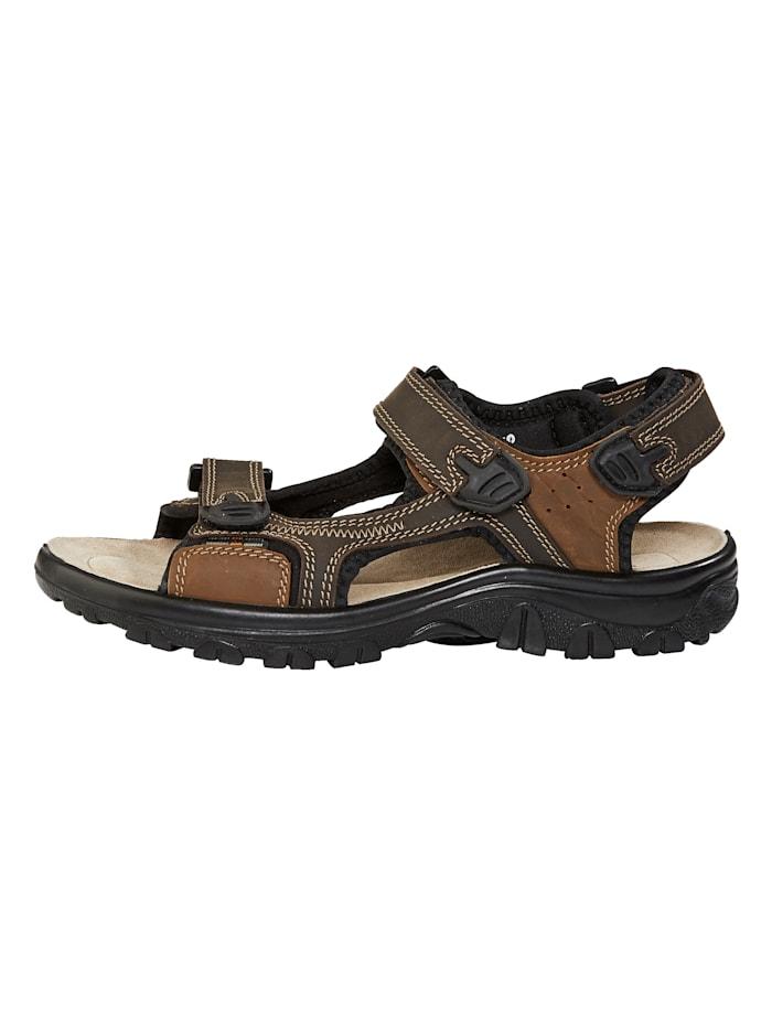 Sandales à surpiqûres fantaisie
