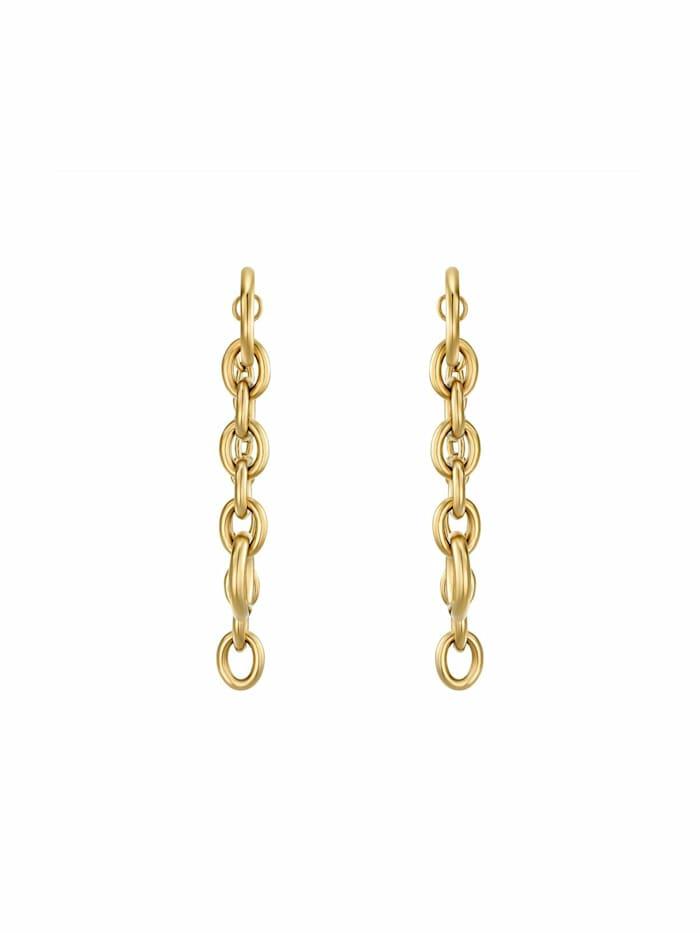 """Ohrhänger für Damen, Stainless Steel IP Gold, 48 mm lang """"Irregular Link"""" von NOELANI"""