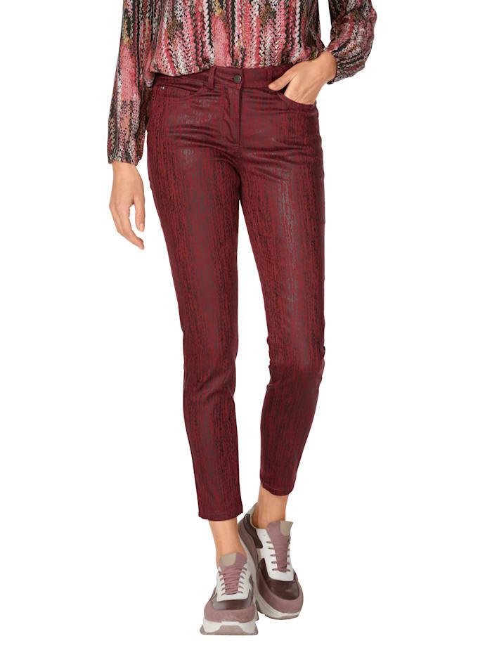 AMY VERMONT Hose mit schwarzer Beschichtung, Rot