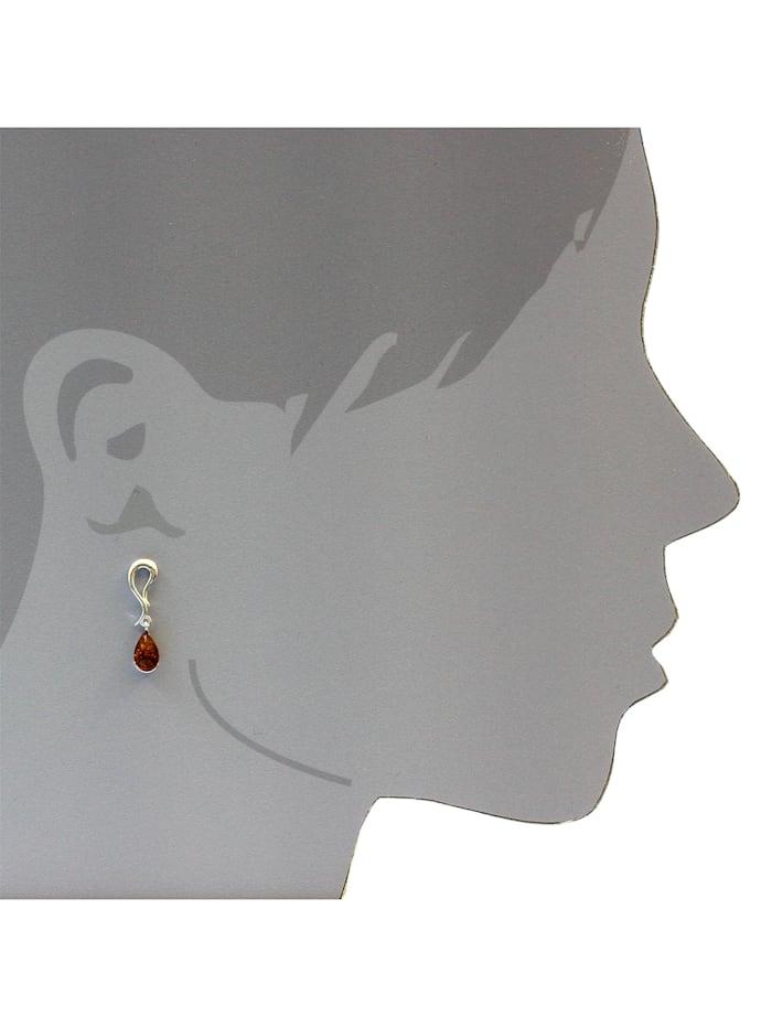 Ohrhänger - Milly - Silber 925/000 - Bernstein