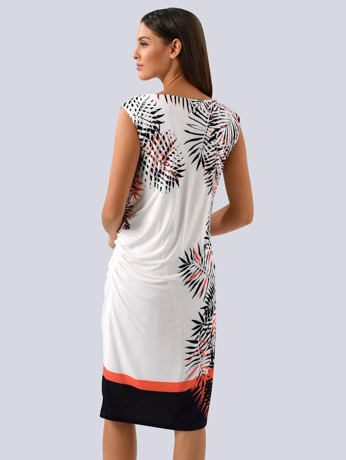 Kleid mit seitlichem Blätterdessin