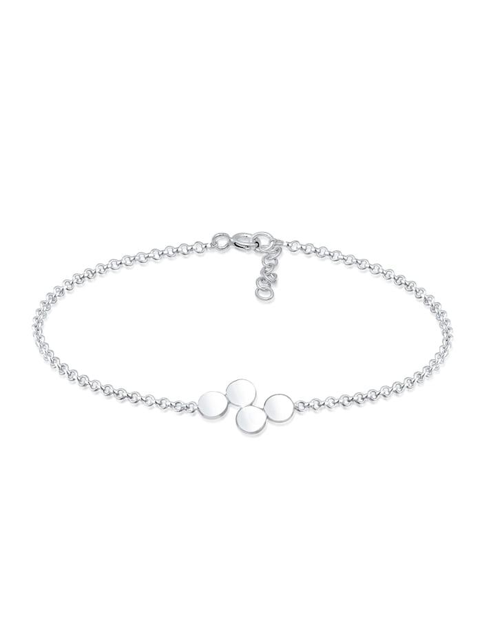 Elli Armband Kreis Geo Basic Erbskette Plättchen 925Er Silber, Silber