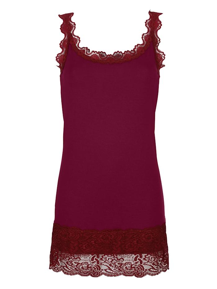 Dress In Topje met kant, Fuchsia