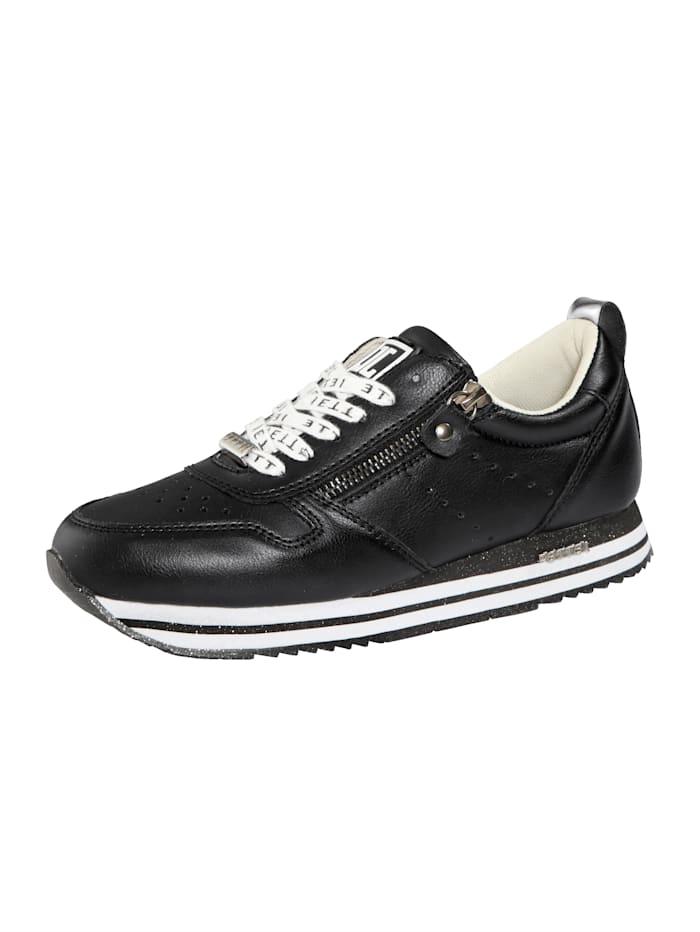 Jette Sneaker mit modischen Schnürsenkeln, Schwarz