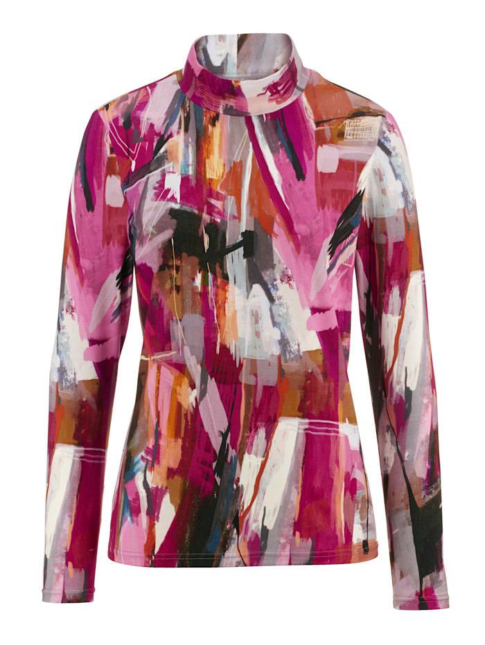 AMY VERMONT Shirt mit Stehkragen, Multicolor