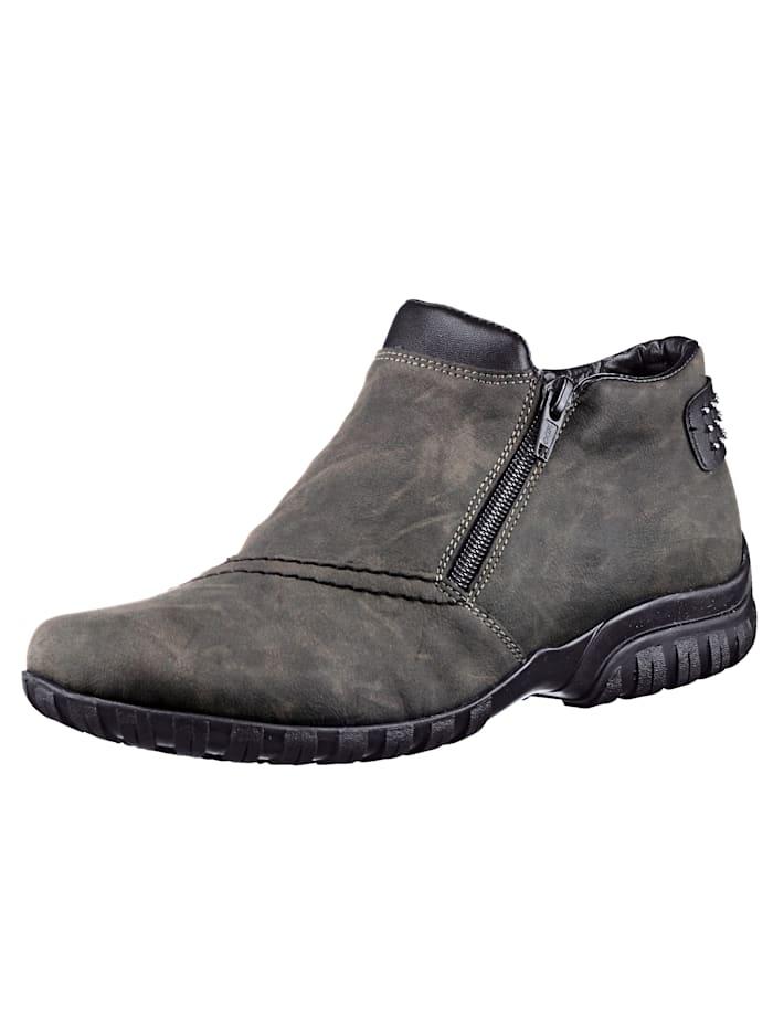 Rieker Rieker-skor med dubbla dragkedjor, Grå