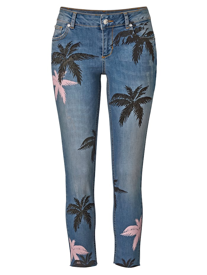 LIU JO Jeans Palmen, Blau