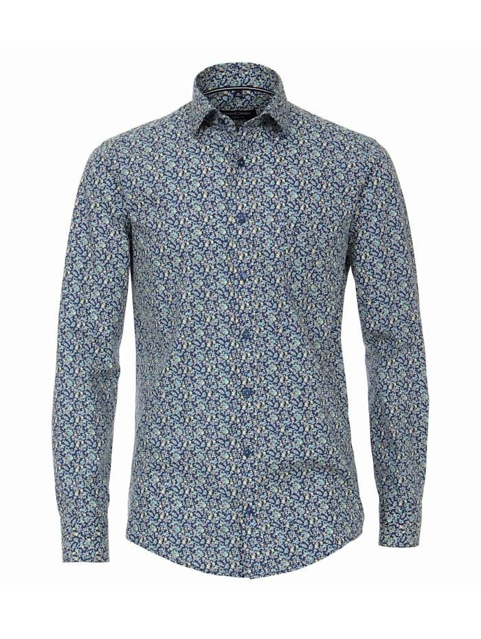 CASAMODA Hemd Print Comfort Fit, Hellgelb