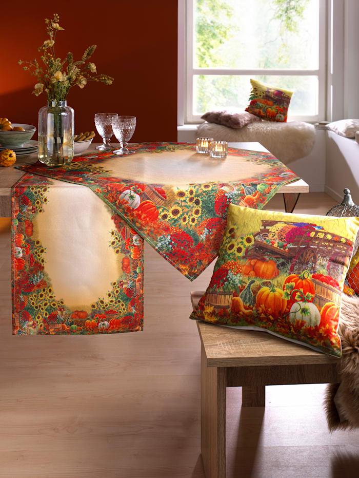 """Raebel Linge de table """"Citrouilles"""", Multicolore"""