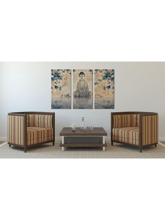 Wandbild Buddhistisches Ritual