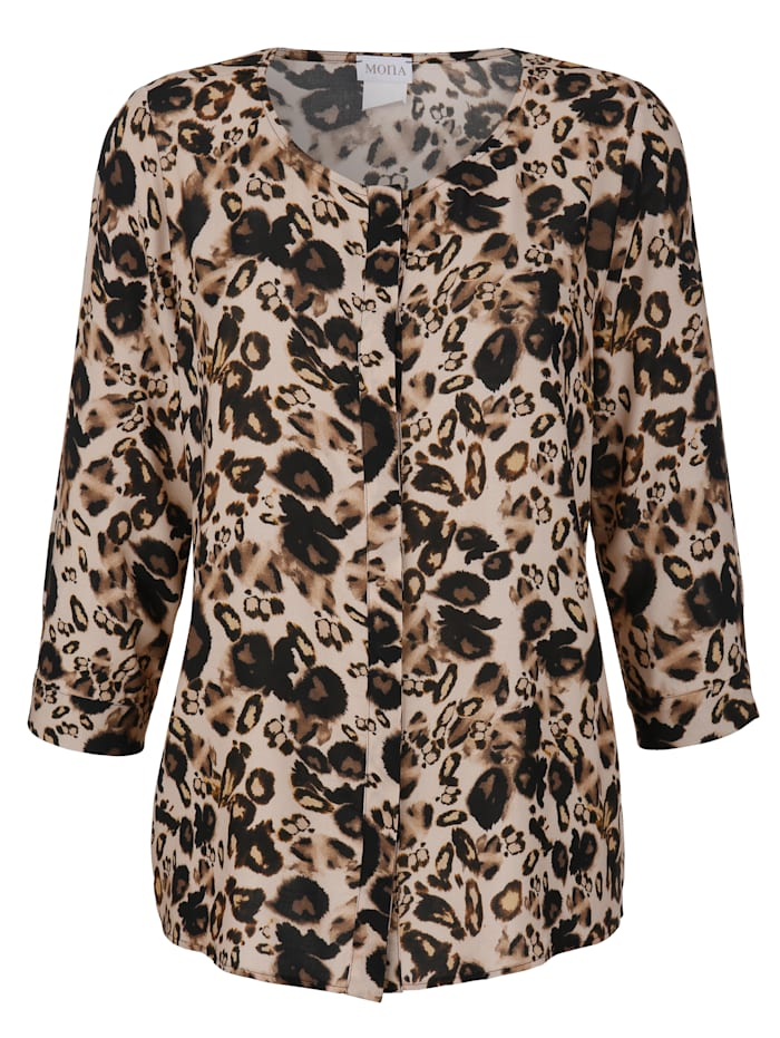Blouse met animalprint