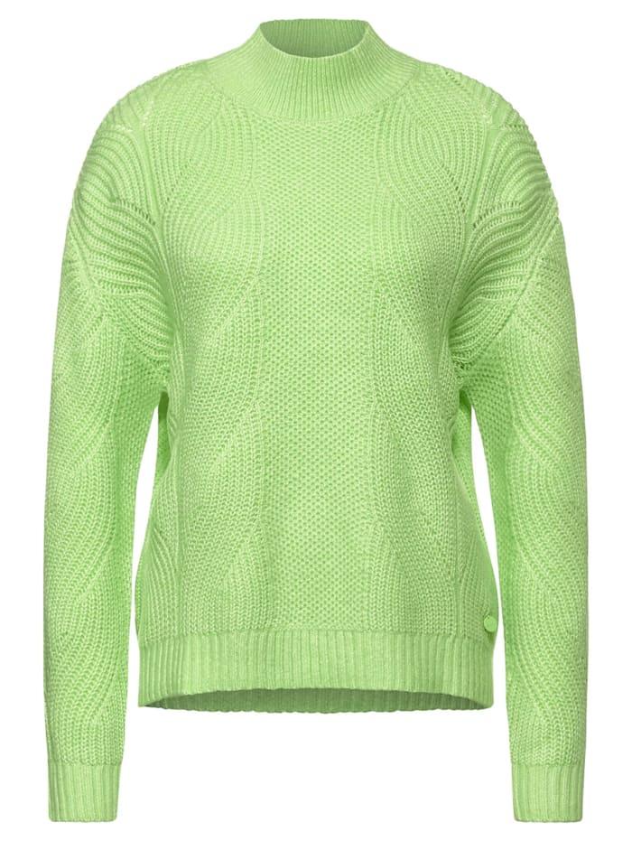 Street One Pullover mit Strick-Struktur, sunny lime