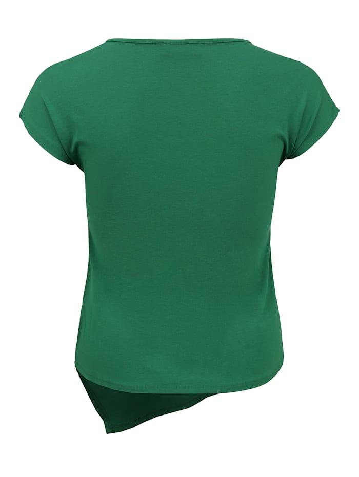 Shirt mit asymmetrischem Saum Ton-in-Ton-Nähte