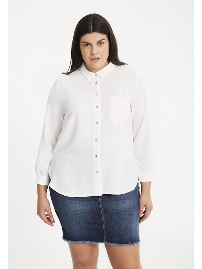 Hemdbluse Shirt unifarben