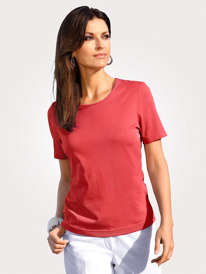 MONA Shirt mit Pima Baumwolle, Koralle