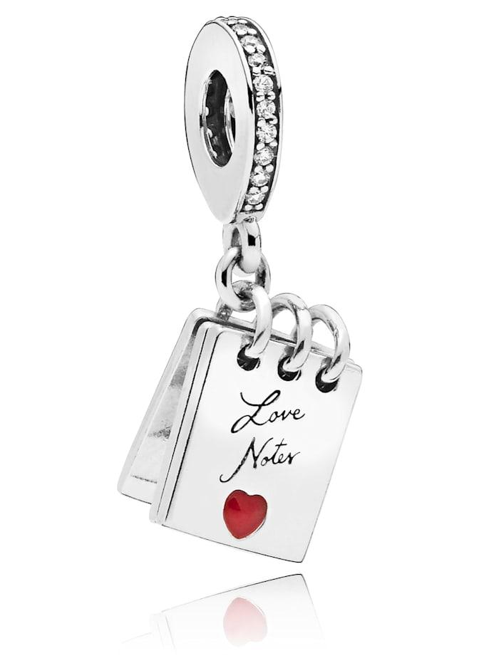 Pandora Charm-Anhänger - Notizblock mit Liebesnoten - 797835CZ, Silberfarben