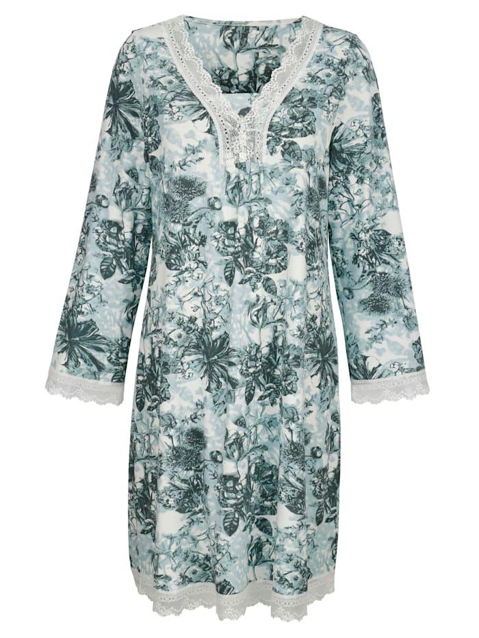 Simone Nachthemd mit floralem Druckmotiv, ecru/oliv