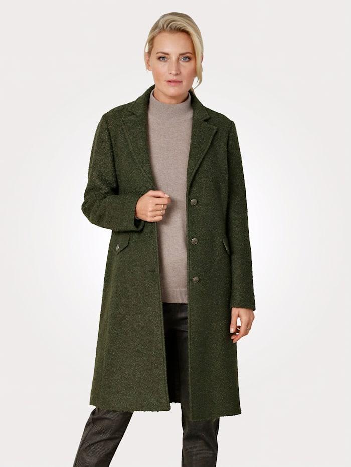MONA Coat in a bouclé finish, Olive