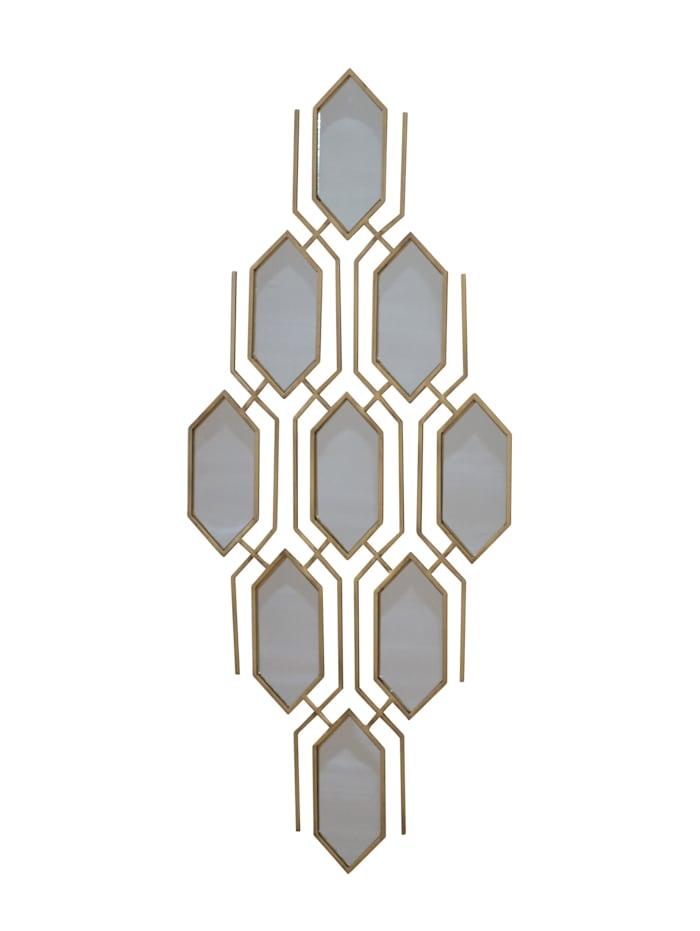 Möbel-Direkt-Online Wanddekoration mit Spiegeleinlagen Wanddekoration, goldfarben