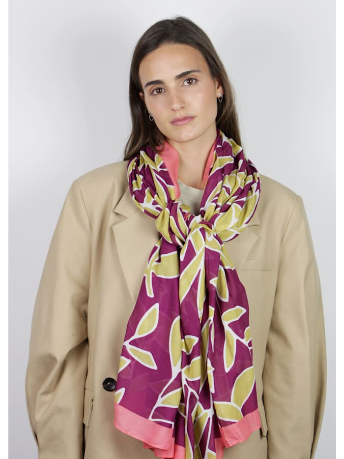 Softer XL-Schal mit Blätter-Print