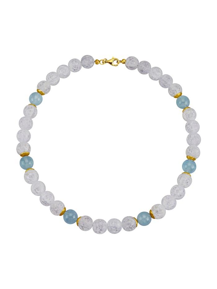 Diemer Farbstein Halskette in Silber 925, Blau