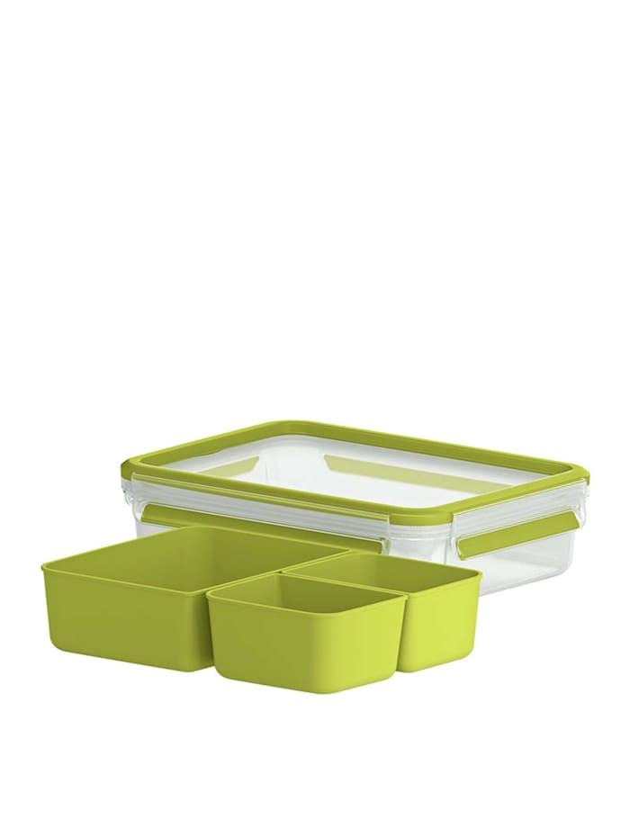 EMSA Snackbox mit 3 Einsätzen Clip   Go, Grün