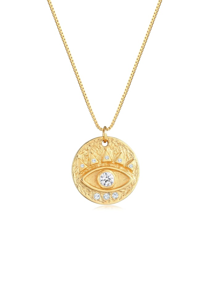 Elli Halskette Evil Eye Antik Kristalle 925 Silber, Gold