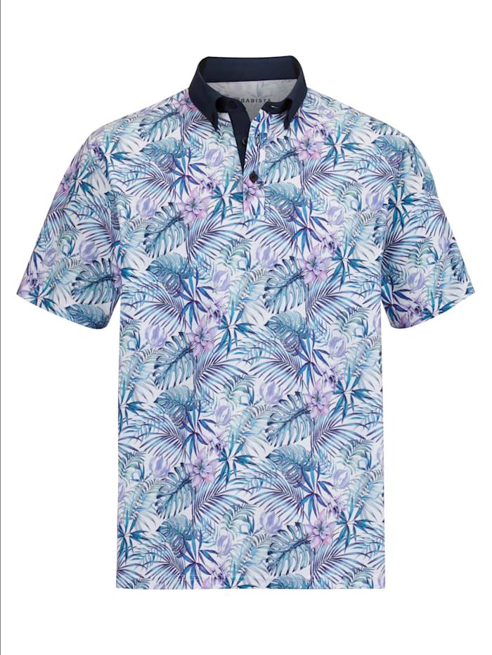 BABISTA Poloshirt met bloemenprint, Blauw/Lila