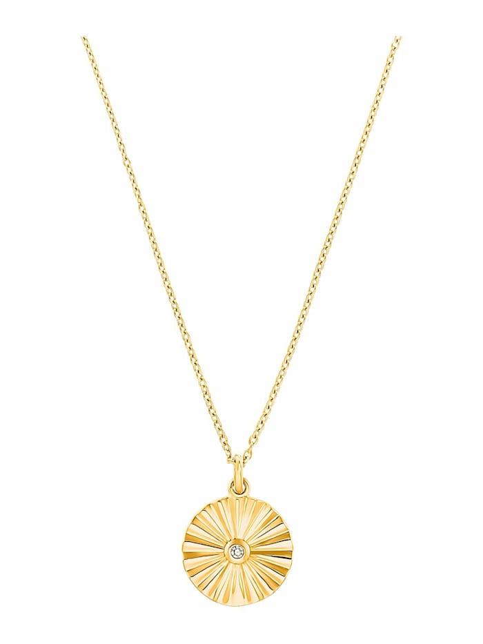 s.Oliver Halskette für Damen, 925 Sterling Silber vergoldet | Sunray, Gold