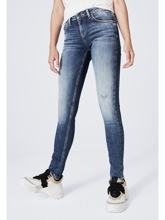 Harlem Soul Blue Used Destroyed Jeans KAR-LIE, blue used destroyed